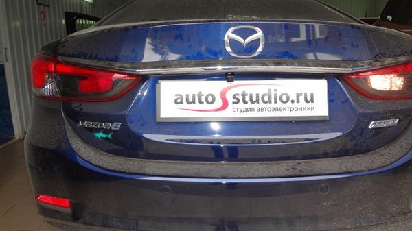 Установка камеры заднего вида на Mazda 6 - AutoStudio.ru