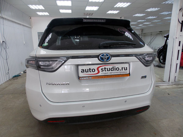 Установка сигнализации с автозапуском на Toyota Harrier Hibrid