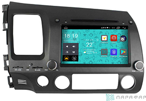 Мультимедиа ParaFar Штатная магнитола 4G/LTE для Honda Civic 2006-2011 на Android 7.1.1 (PF044D)