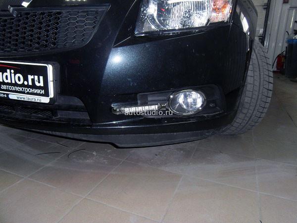 Установка ДХО на Chevrolet Cruze.